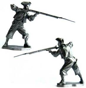 Pirate with a rifle, XVII-XVIII cc. Tin toy soldier 54 mm. metal