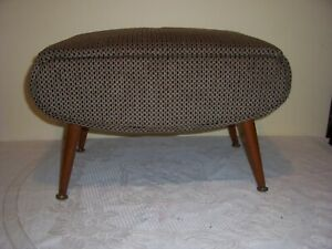 Vintage  Foot Stool Dansette Legs sewing storage Mid Century 50/60s 99p no res