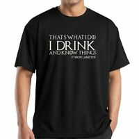 I Drink & I Know Thing Game Of Thrones Funny Adults T-Shirt