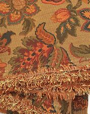 Upholstery Fabric Woven Tapestry Polyester Copper Orange Navy 4.5 Yds