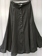 Principles Victorian Halloween Steampunk Gothic Black Button Down Skirt 12
