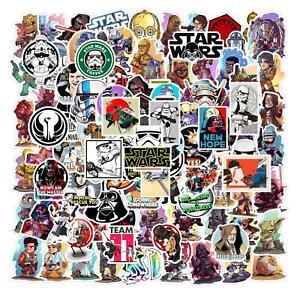50 pcs Disney Star Wars Stickers Waterproof PVC Laptop Guitar Skateboard sticker