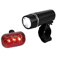 Bicycle Light Set Super Bright 5 LED Headlight, 3 LED Taillight, Quick-Release