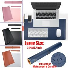 Larger Non Slip PU Leather Office Desk Protector Mat Keyboard Mouse Laptop Pad