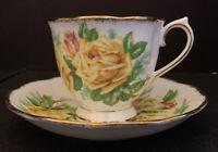 """Royal Albert English Floral Teacup and Saucer  """"Tea Rose"""" China Porcelain"""