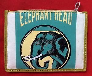 Cotton Zip Up Elephant Coin Purse