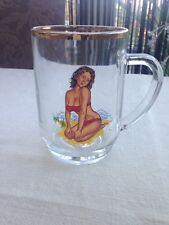 Vintage Retro Nude Pint Glass Tankard Lady Pin Up