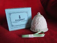 1988 Lladro 2nd Annual Porcelain Christmas Bell #5525 Santa Sleigh Spain Nib
