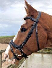 M L Equine's Abbie monocrown bridle Bridle, Black or Brown, pony,cob,full,X-Full