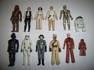Star Wars 1977 Vintage Kenner First 12 Action Figure Lot-Luke, C3PO, R2D2, Solo+