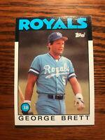 1986 Topps #300 George Brett Baseball Card Kansas City Royals HOF Raw