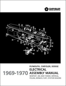 1969-1970 Chrysler Electrical Assembly Manual 300 Newport New Yorker Imperial