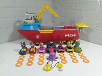 Paw Patrol Sea Patroller With Full Set Of Surf Pups Ryder On Quad Accessories
