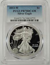 2013-W $1 AMERICAN SILVER EAGLE PROOF (ASE) PCGS PR70DCAM #39819725 DEEP CAMEO!!