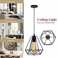 Geometric Wire Design Pendant Shades Easy Fit Retro Lighting LED Light  Shade