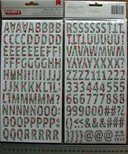 Printed BLOOMS Blue/Red Chipboard 202 Alphabet & Numbers 23mmHigh&4-20mmWide L3