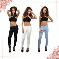NEW LADIES SKINNY FIT COLOURED STRETCHY SMART JEANS WOMENS JEGGINGS TROUSERS