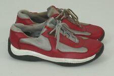 Prada Mens Shoes Low To Sneaker Red Desinger Size 7