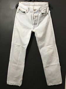 Vintage 501 Levis Button fly High Waisted Straight distressed Jeans no tag 28X28