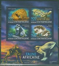 CENTRAL AFRICA 2013 AFRICAN FAUNA  SHEET  MINT NH