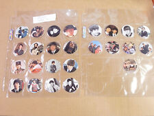 THE BEATLES POGS PROTO TYPE SET ALL 25 COMPLETE PROBABLY THE RAREST OF THE ALL