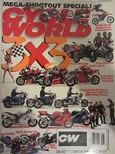 Cycle World Magazine June 2002 3 x 3 Yamaha YZ250F Suzuki GSX-R1000 Aprilia Mill