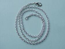 "UK Jewellery 18"" Silver 2mm Trace Link Necklace Pendant Bracelet Locket Chain"