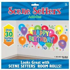 Happy Birthday Scene Setter - 85 cm x 165 cm - Giant Wall Party Decorations
