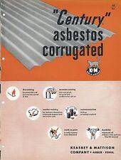MRO Brochure - Keasbey & Mattison - Century Asbestos Corrugated Cat c1952 (MR79)