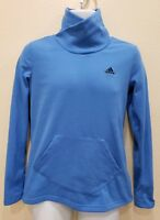 Adidas Size Small Blue Turtleneck Pullover Sweater