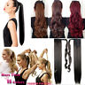 """18-26"""" long Clip in Ponytail Hair Extensions Wrap Arpund One Piece as human LA71"""