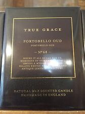 True Grace natural wax scented candle 'Portobello Oud' New/sealed