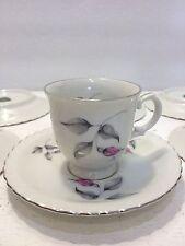 Vintage Royal Bohemian Fine China Floral, Demitasse,Espresso,Tea Cup Saucer Set