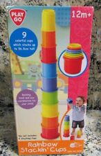 NEW Playgo Rainbow Stacking Cups Baby Stacking Toy NIB Play Go