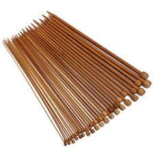 25cm 36 Pcs Carbonized Bamboo Single Pointed Crochet Knitting Needles