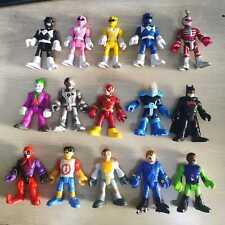 Lot of 15pcs Imaginext Power Rangers DC Super Friends & Blind Bag Sereis Figures