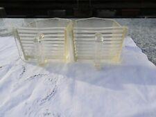 Antike 2 Glasschütten Vorratsgefäße mit Griff von boucel