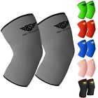2 Knee Support Compression Sleeve Brace Patella Arthritis Pain Relief Gym