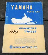 Original 1974 Yamaha TW433F Snowmobile Parts List/Manual LIT-10018-68-00 TW-433F