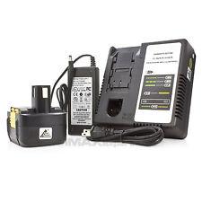 (1) 15.6V Battery + (1) Charger for Panasonic for Ni-Cd Ni-Mh Li-Ion Pod Battery