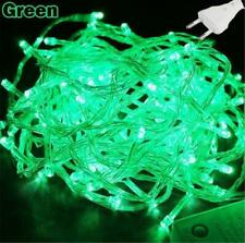 10m 100LED christmas Fairy light string - Green Electric Powered