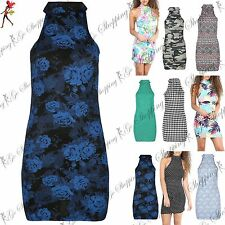 Polo Neck/Roll Neck Party Mini Sleeveless Dresses for Women