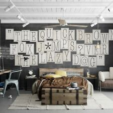 1wall Typography Letters 64 Piece Collage Wall Paper Mural Creative Design Home