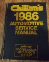 Chilton's Automotive Service Manual 1986