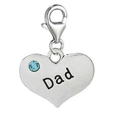 Dad Clip on for Charm Pendant Jewelry w/ Lobster Clasp