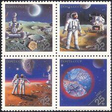 "Russie 1989 ""EXPO' 89""/SPACE/Lunar véhicule/Lune/Mars 4 V Set BLK (b3235)"