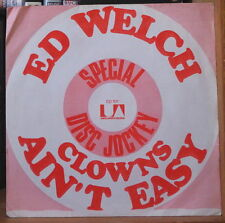 ED WELSH CLOWS FRENCH SP UNITED ARTISTS RECORDS 1971