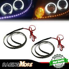 White/Amber Headlight Strip DRL LED Light Bulbs For All Cars, SUVs, Trucks,