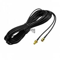 9M 30FT Black Antenna RP-SMA Wi-Fi WiFi Router Cable Extension Cable LEBB