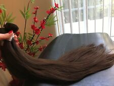 Hair Extensions Weft Human hair 24 inches 100g Med Brown #4